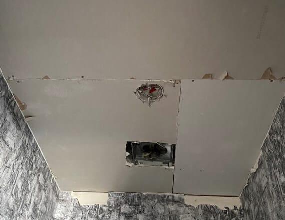 bathroom ceiling before